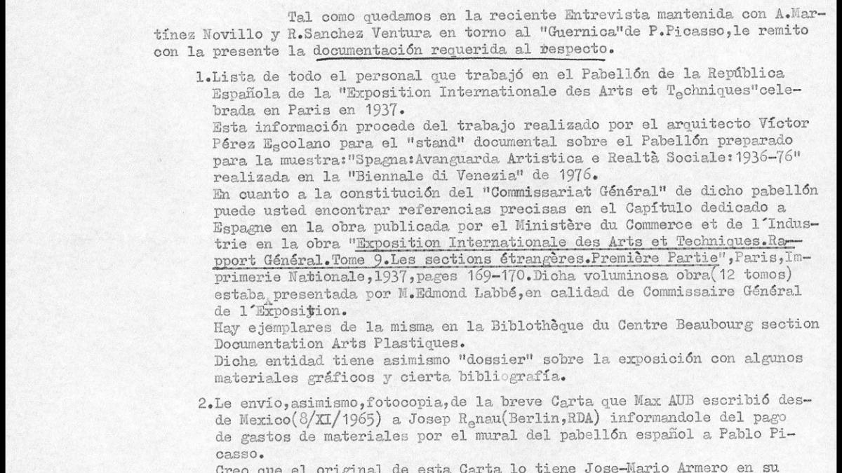A letter from Manuel García y García to Javier Tusell, dated 27 February 1981