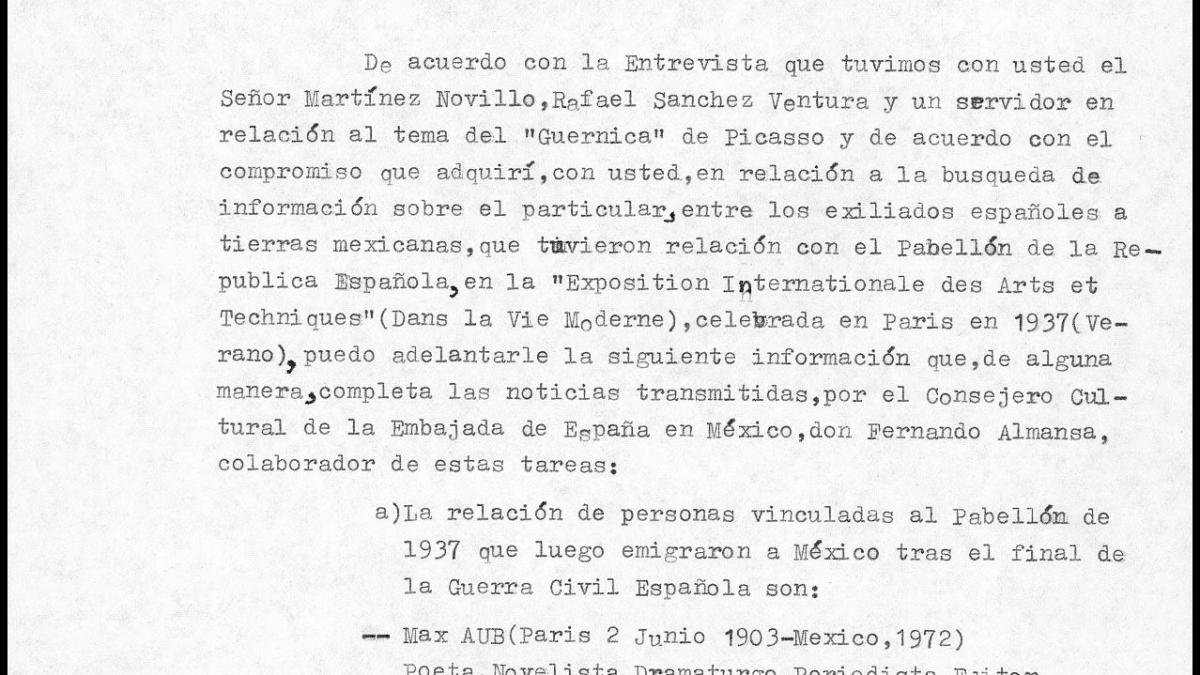 A letter from Manuel García y García to Javier Tusell, dated 23 June 1981