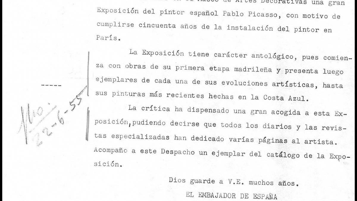 Letters from José Rojas Moreno to Alberto Martín-Artajo Álvarez