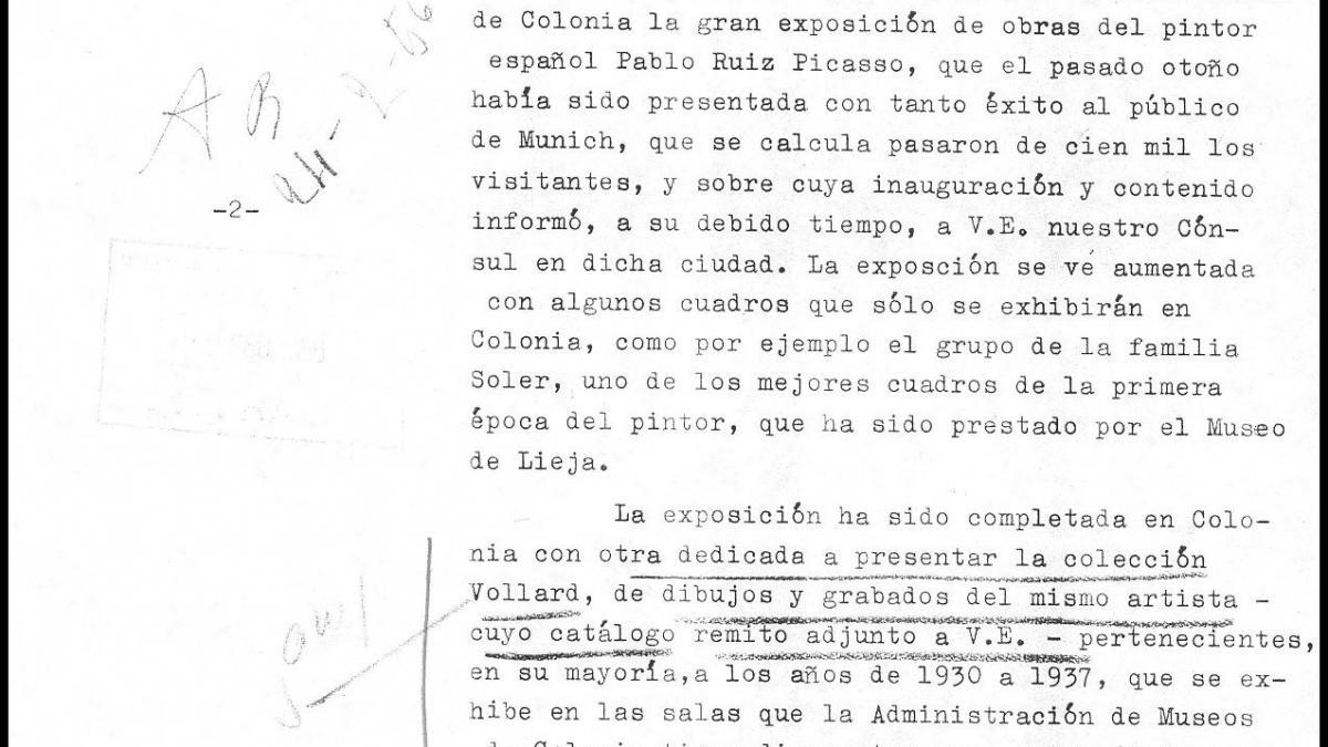 Carta de Antonio Mª Aguirre a Alberto Martín-Artajo Álvarez