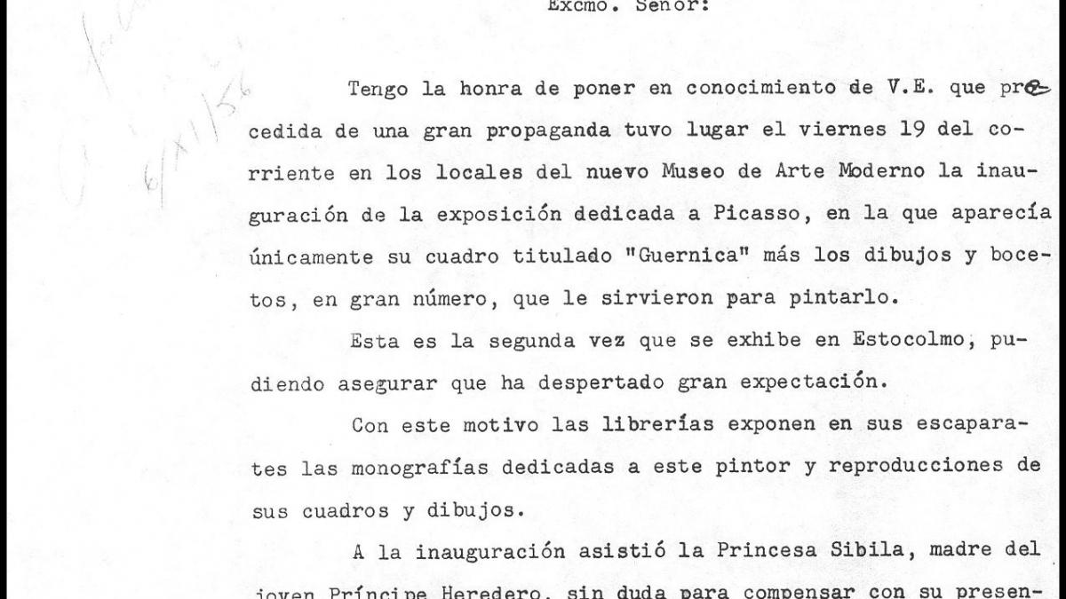 Carta de Ernesto de Zulueta a Alberto Martín-Artajo Álvarez