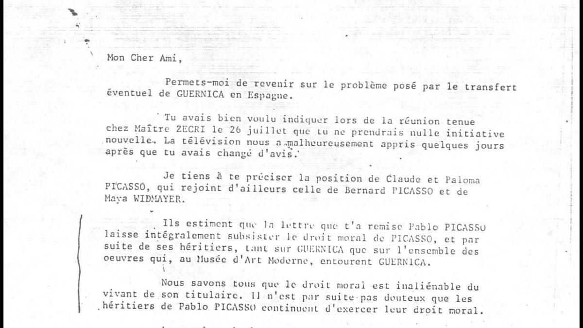Carta de Jean-Denis Bredin a Roland Dumas