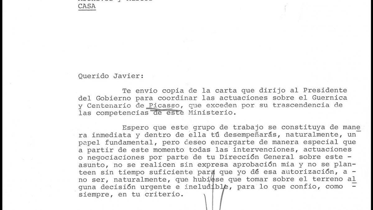 Carta de Ricardo de la Cierva Hoces a Javier Tusell