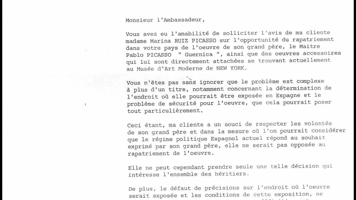 Guy Ferreboeuf's letter to Miguel Solano Aza