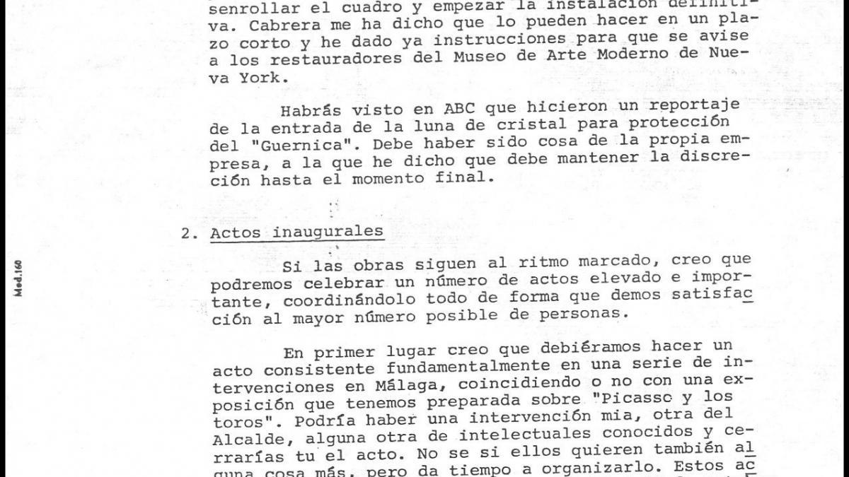 Carta de Javier Tussell a Íñigo Cavero
