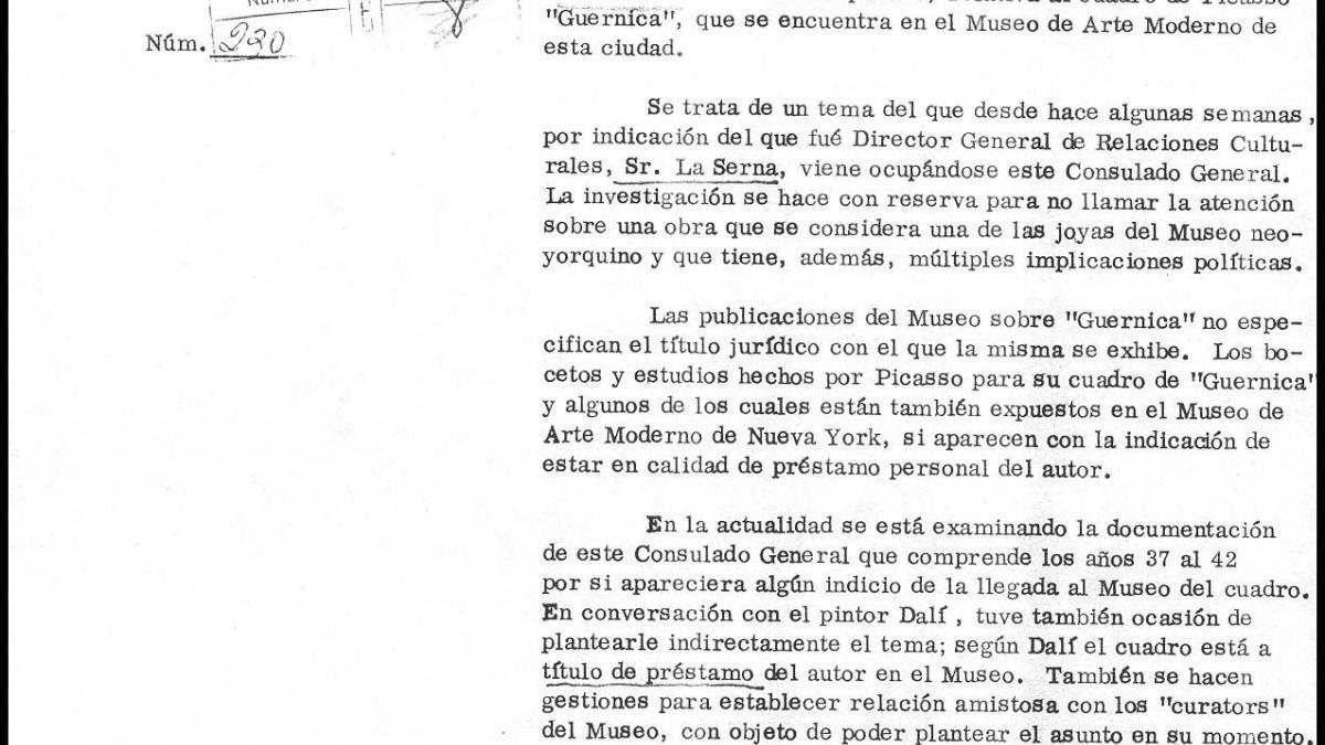 Carta de Antonio Serrano a Fernando María Castiella