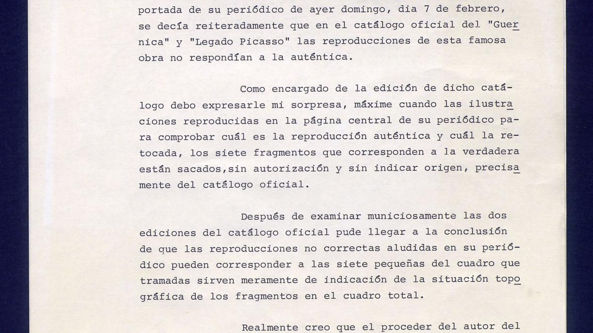 Carta de Álvaro Martínez Novillo a Pedro J. Ramírez