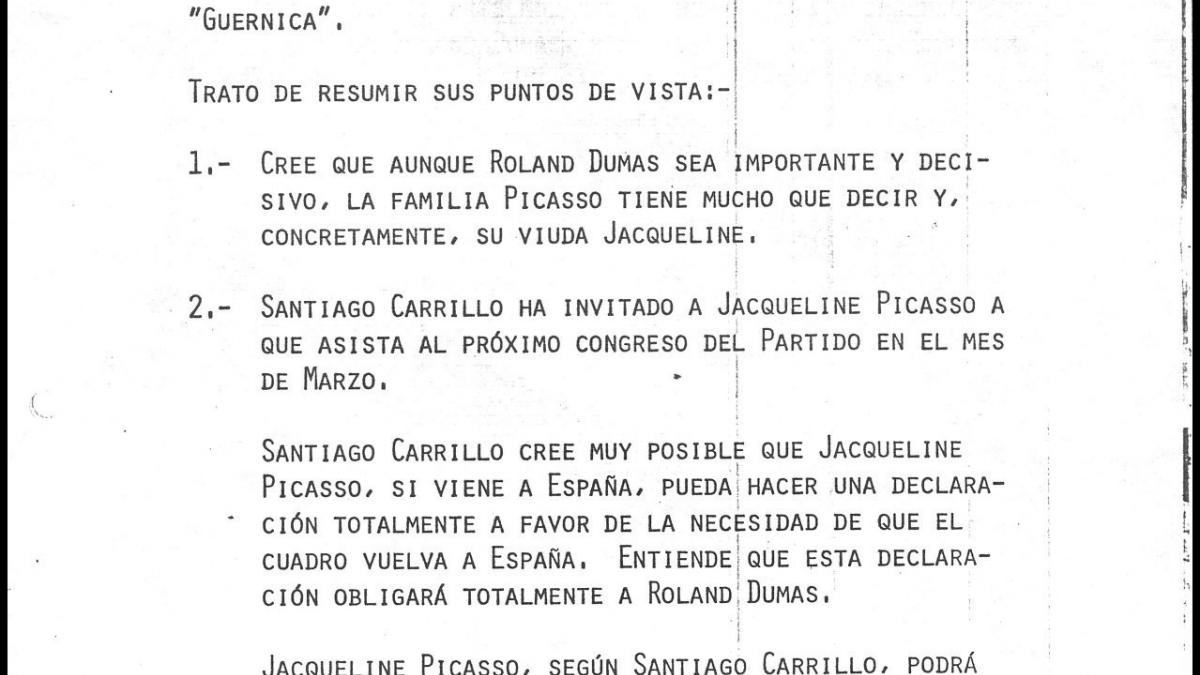 A letter from José Mario Armero to Pío Cabanillas, dated 29 December 1977