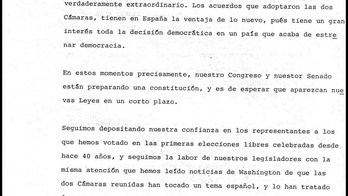 A communiqué from the  Spanish government regarding the delivery of Guernica