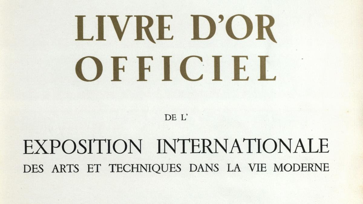 Catálogo oficial de la Exposición Internacional de las Artes y Técnicas para la vida moderna