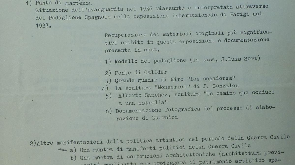 Report on the exhibition Avanguarda e politica: il caso spagnolo dal 1936 al 1976