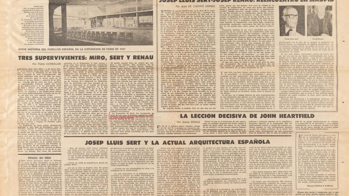 Tres supervivientes: Miró, Sert y Renau