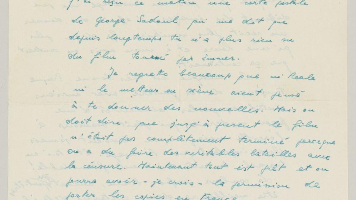 Carta de Antonello Trombadori a Pablo Picasso