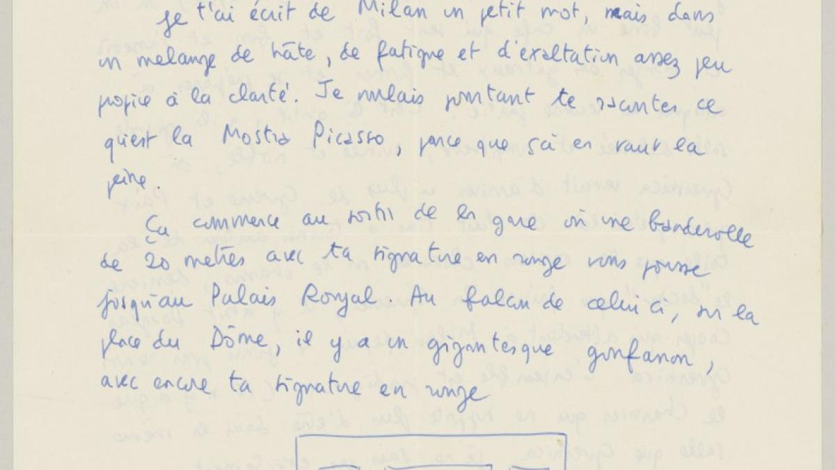 Carta de Claude Roy a Pablo Picasso del 12 de octubre de 1953