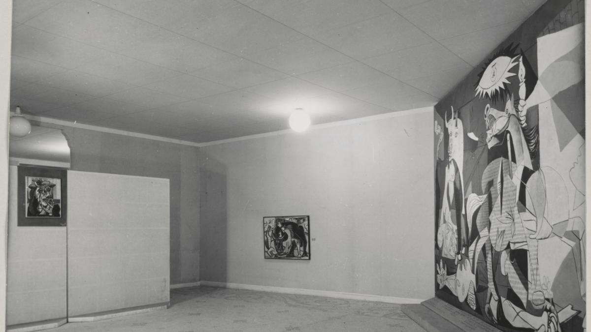 Guernica en la exposición Picasso del Musée des Arts Décoratifs