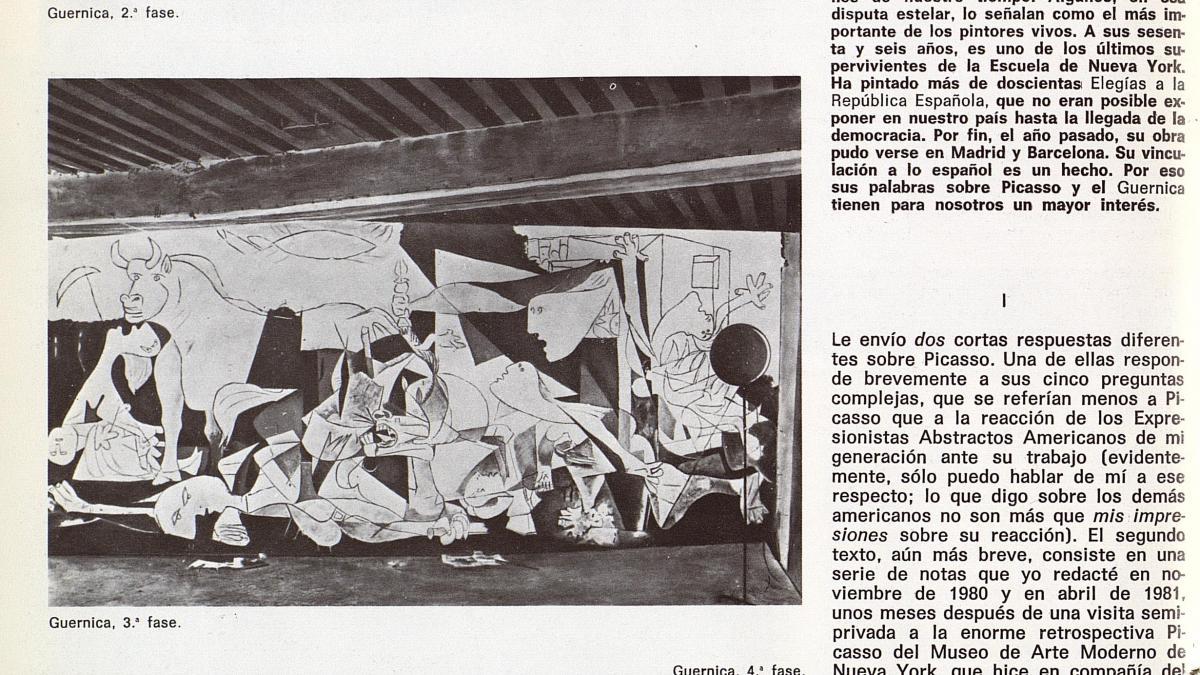 «Picasso», artículo aparecido en la revista Guadalimar