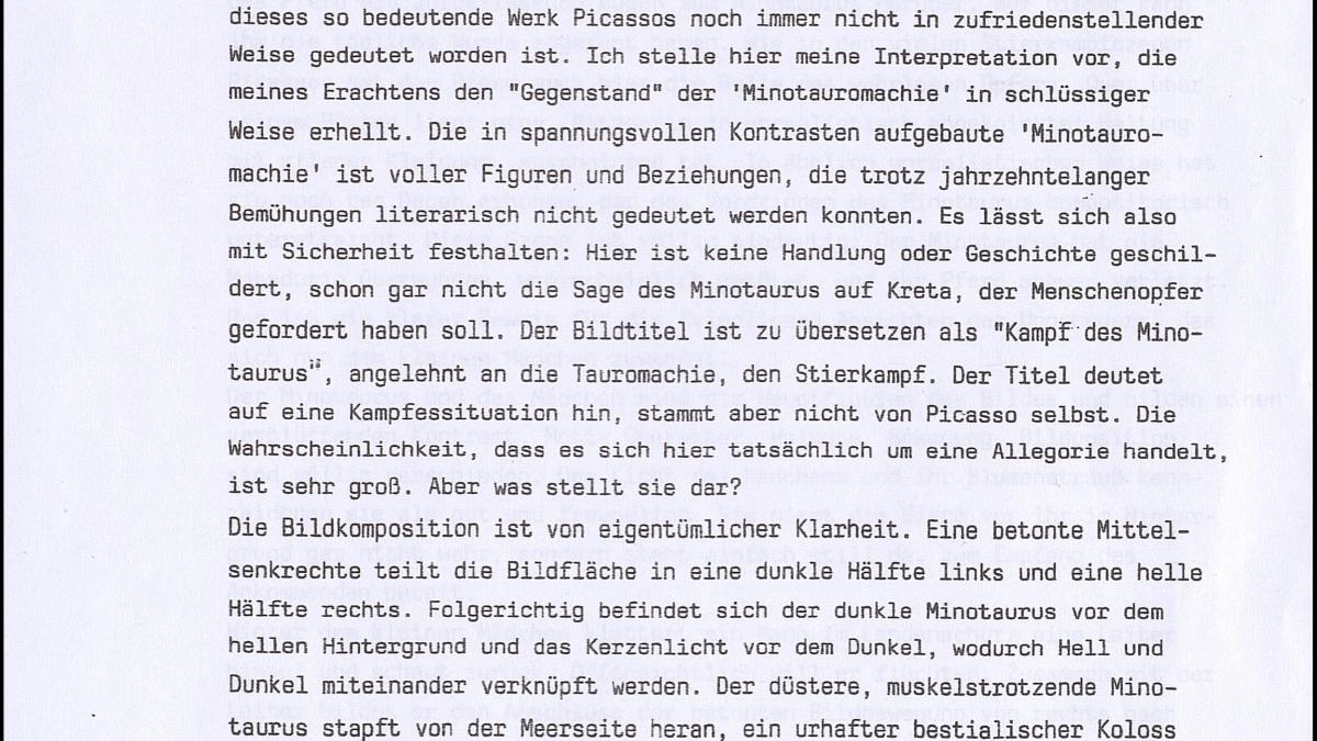 Carta de Eberhard Fisch al Museo Reina Sofía