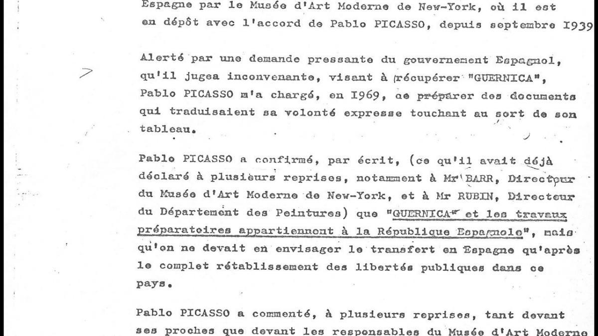 Comunicado de Roland Dumas