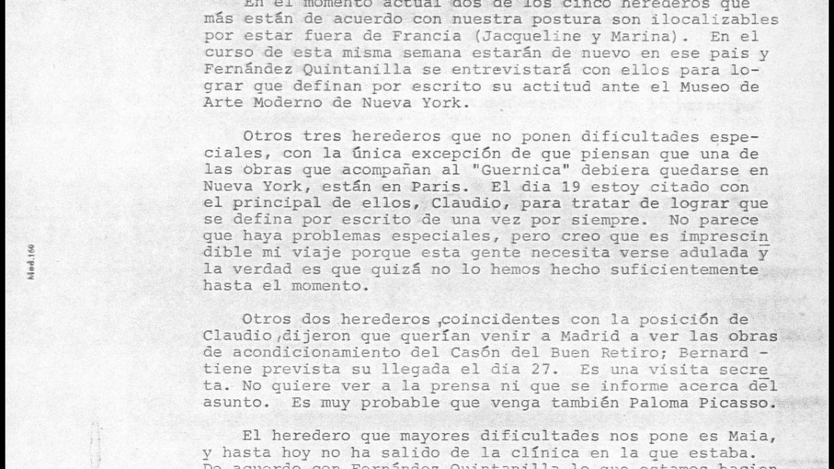 A letter from Javier Tusell to Íñigo Cavero, dated 13 November 1980