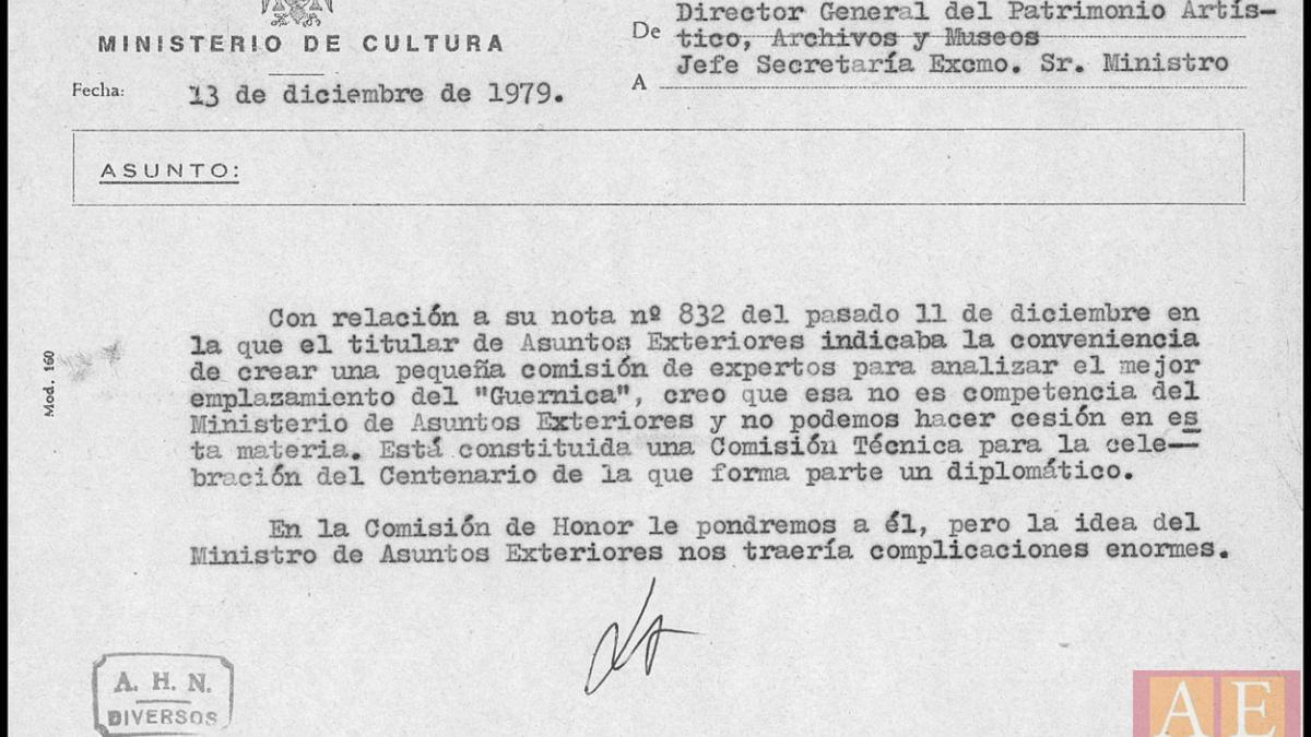 Javier Tusell's letter to Marcelino Oreja