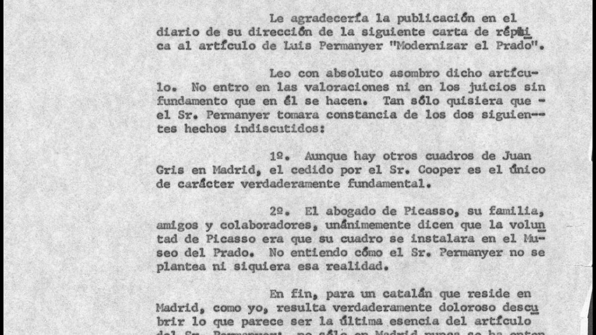 Javier Tusell's letter to Horacio Sáenz Guerrero