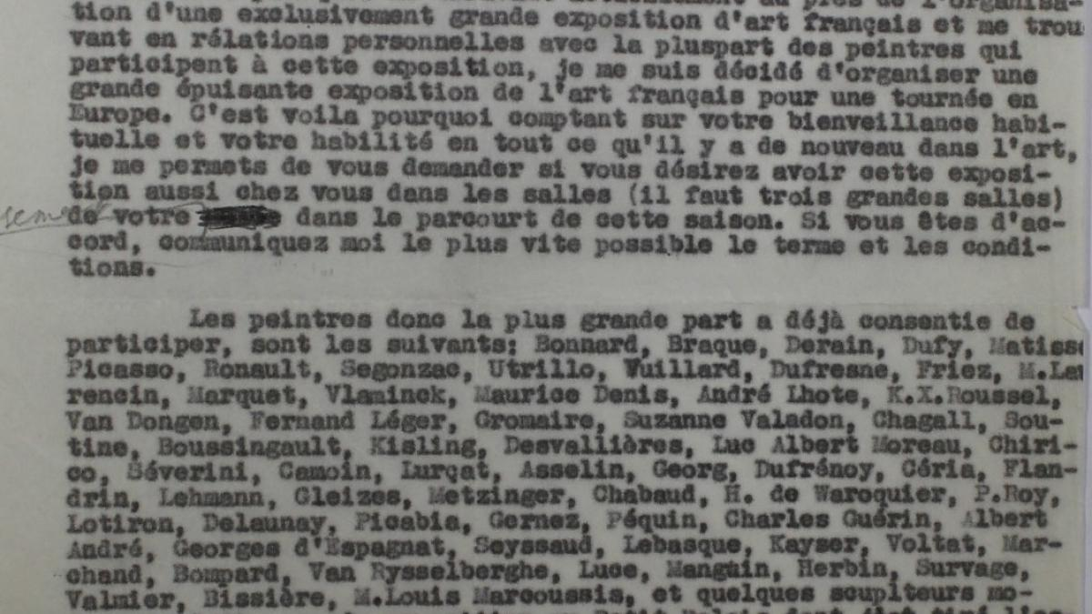 Carta de Wasily Levi a Sven Strindberg