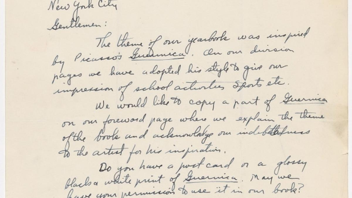 Hugh Thomas's letter to Alfred H. Barr Jr.