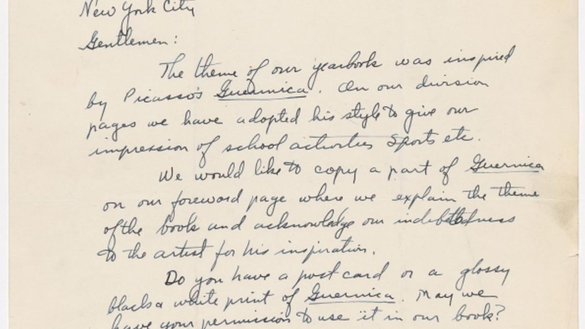 Carta de Hugh Thomas a Alfred H. Barr Jr.