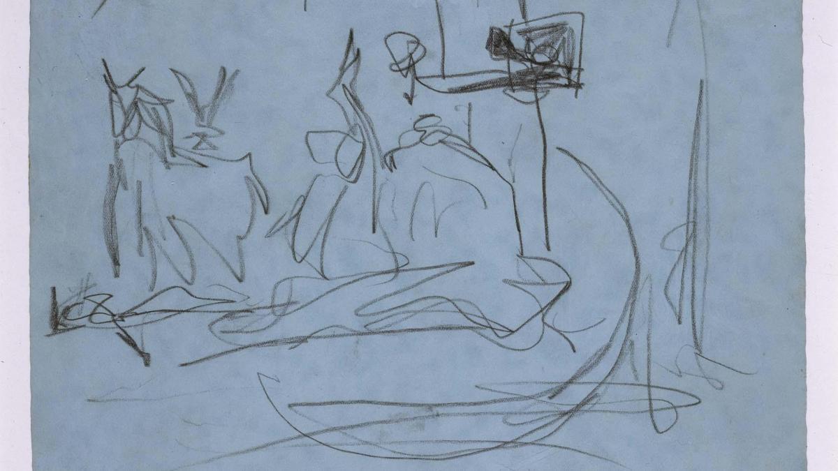 Estudio de composición (I). Dibujo preparatorio para Guernica