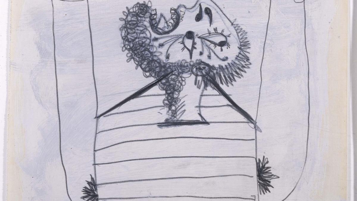 Hombre cayendo. Dibujo preparatorio para «Guernica»