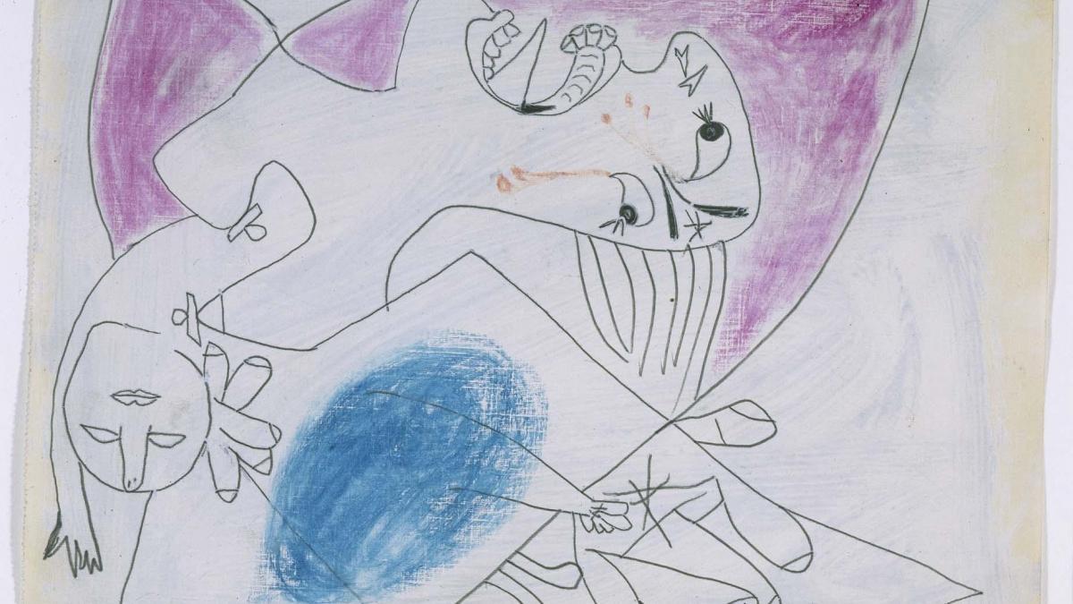Madre con niño muerto (III). Dibujo preparatorio para «Guernica»