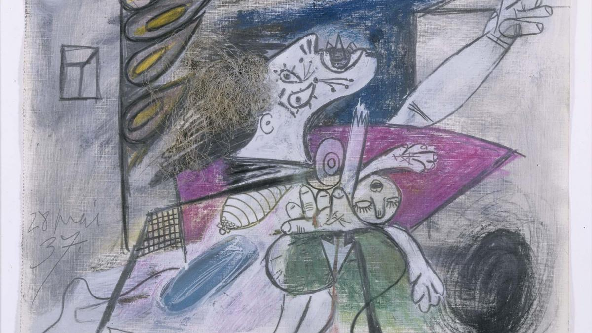 Madre con niño muerto (IV). Dibujo preparatorio para «Guernica»