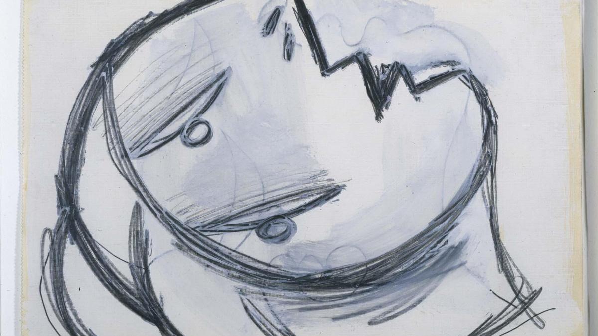 Cabeza. Dibujo preparatorio para «Guernica»