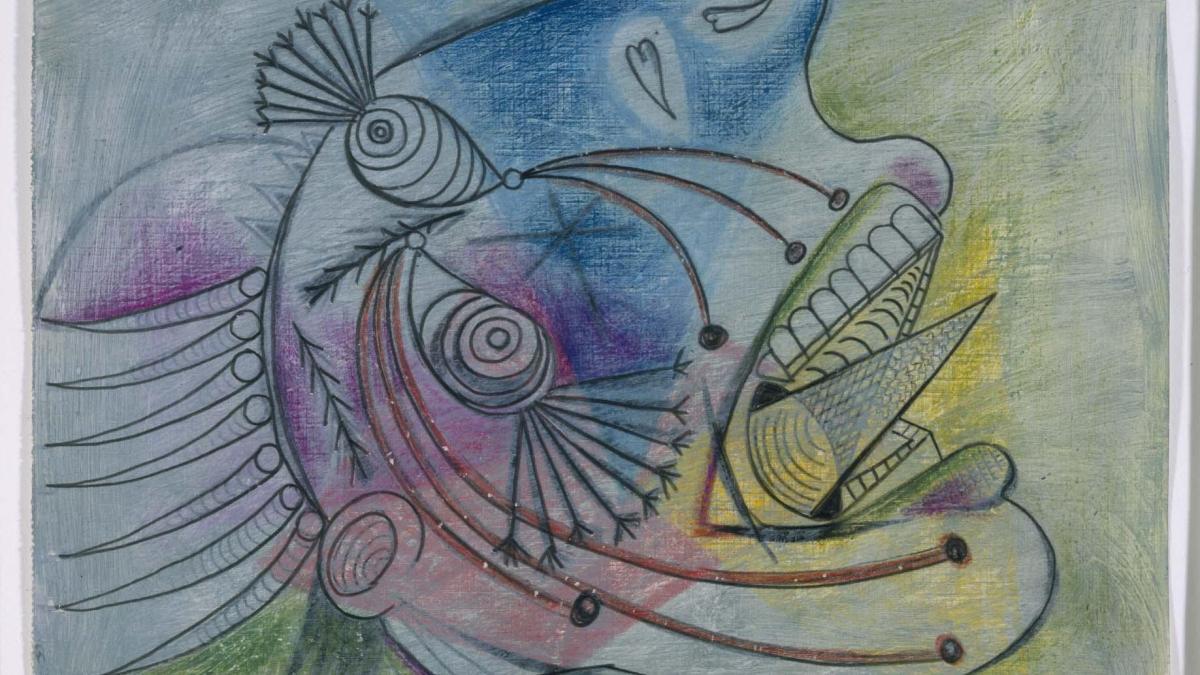 Estudio para una cabeza llorando (II). Dibujo preparatorio para «Guernica»