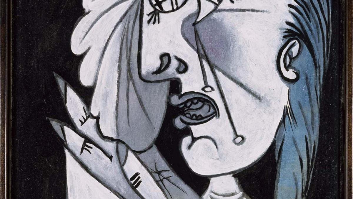 Cabeza de mujer llorando con pañuelo (I). Postscripto de «Guernica»