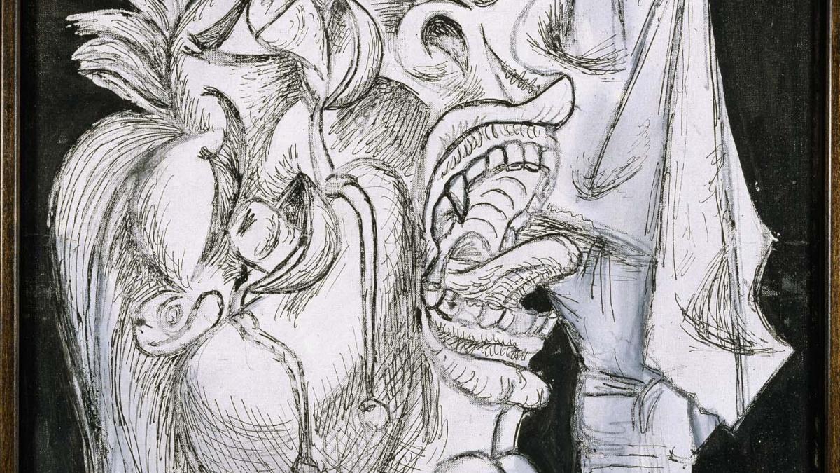 Cabeza de mujer llorando con pañuelo (II). Postscripto de Guernica