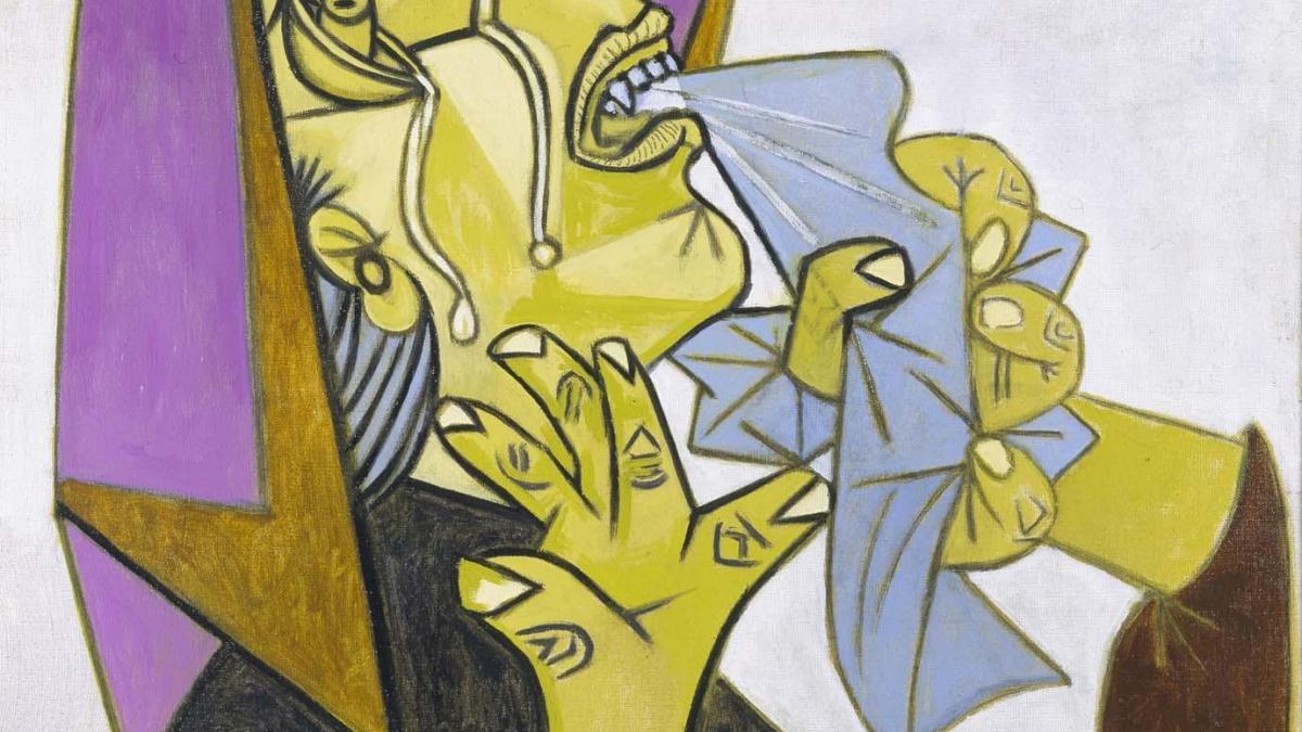 Cabeza de mujer llorando con pañuelo (III). Postscripto de Guernica