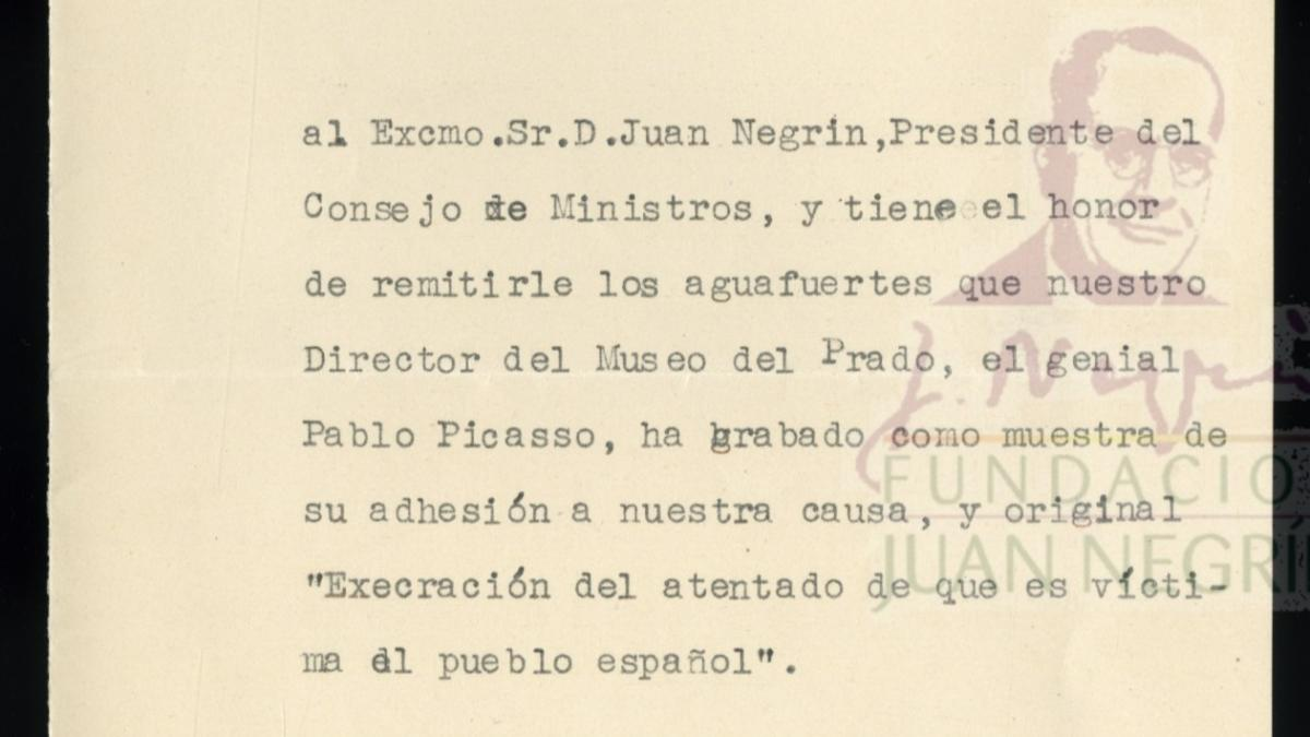 Letter from Josep Renau to Juan Negrín