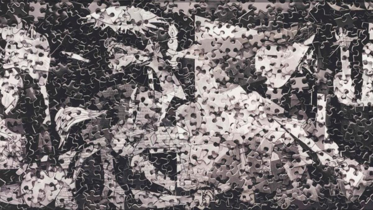 Guernica after Pablo Picasso. Serie Gordian Puzzles