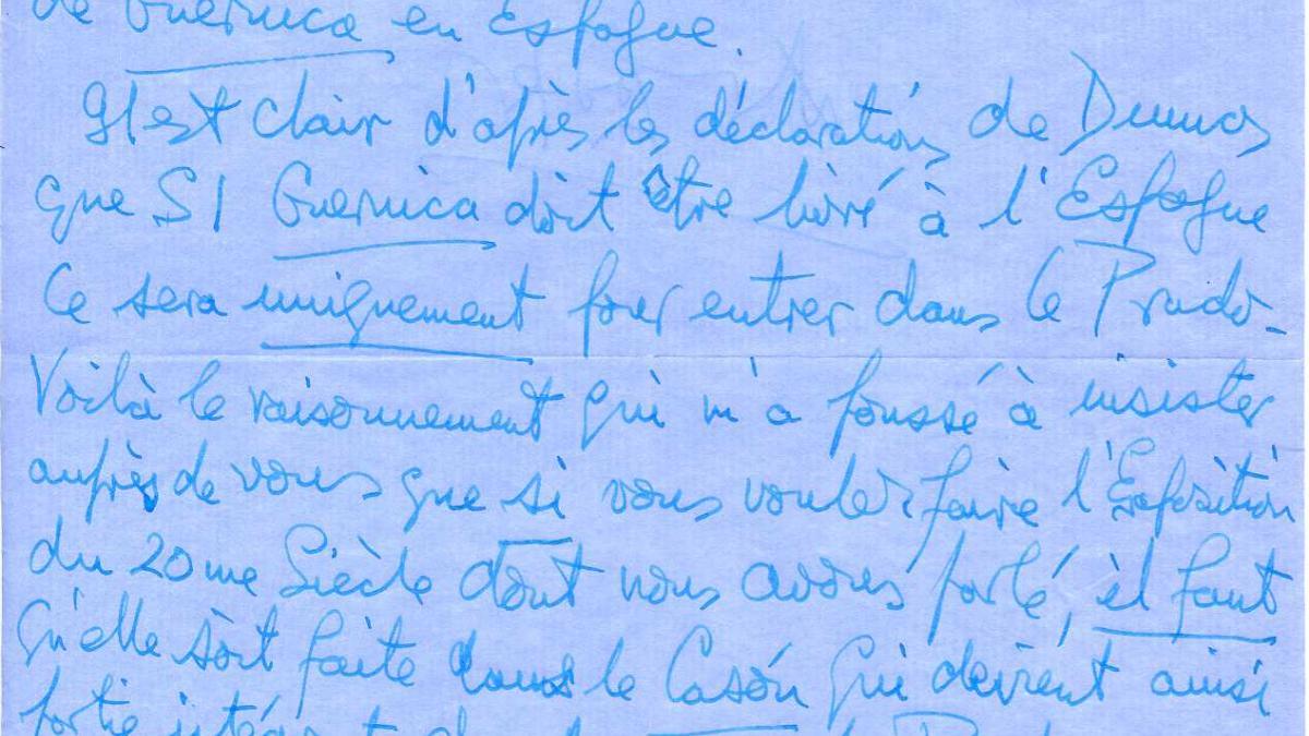 Carta de Douglas Cooper a Evelio Verdera