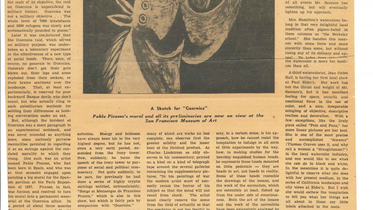 Tras el bombardeo de Guernica vino un mural de Picasso