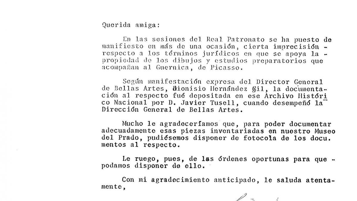 Letter from Justino Azcárate to Carmen Crespo