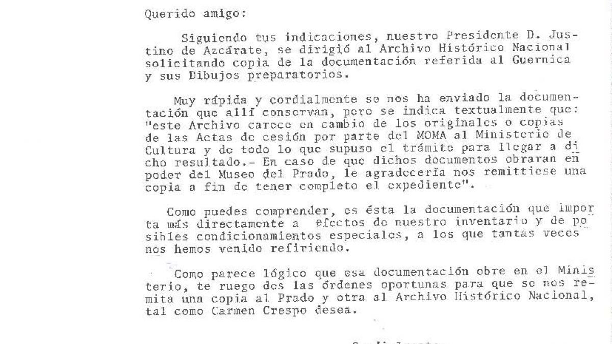 Carta de Alfonso E. Pérez Sánchez a Dionisio Hernández Gil