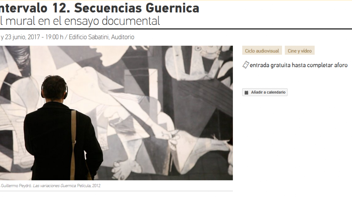 Interval 12. Guernica Sequences. The Mural in Documentary Essay Films