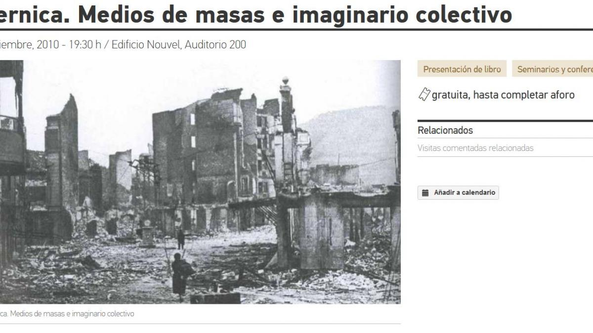 Guernica. Mass Media and Collective Imaginary
