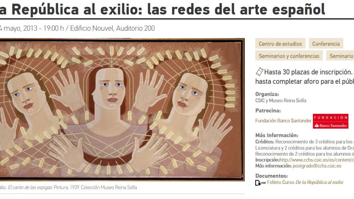 From the Spanish Republic to Exile: The Networks of Spanish Art