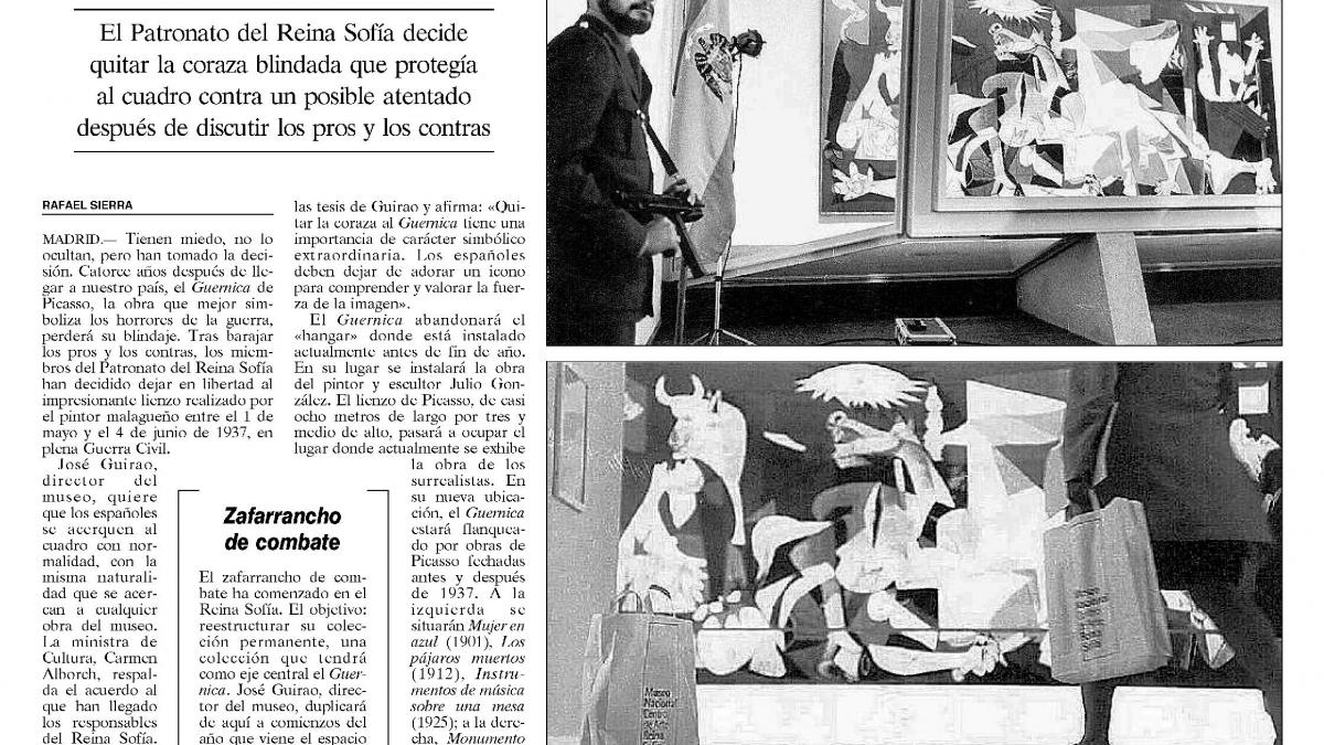 Guernica set free after fourteen years of 'prison'