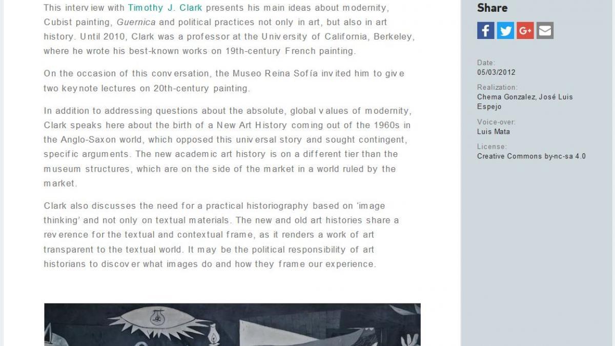 Qué fue la nueva Historia del Arte. Conversaciones con Timothy J. Clark