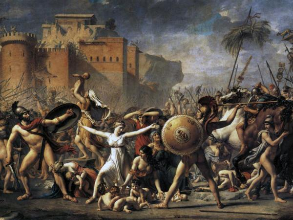 Jacques-Louis David, El rapto de las sabinas, 1799